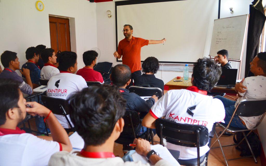 vikash sharma 3 weeks screenwriting workshop at kantipur film academy