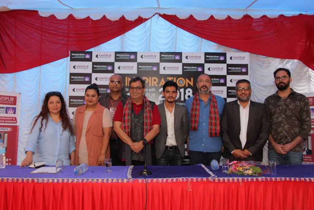 Subhash Ghai, Anjum Rajabali team at kantipur film academy